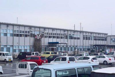 プレハブの仮設庁舎